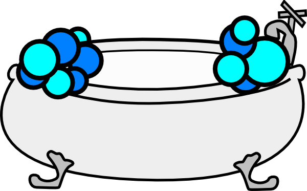 Tub clipart. Bathtub with bubbles clip