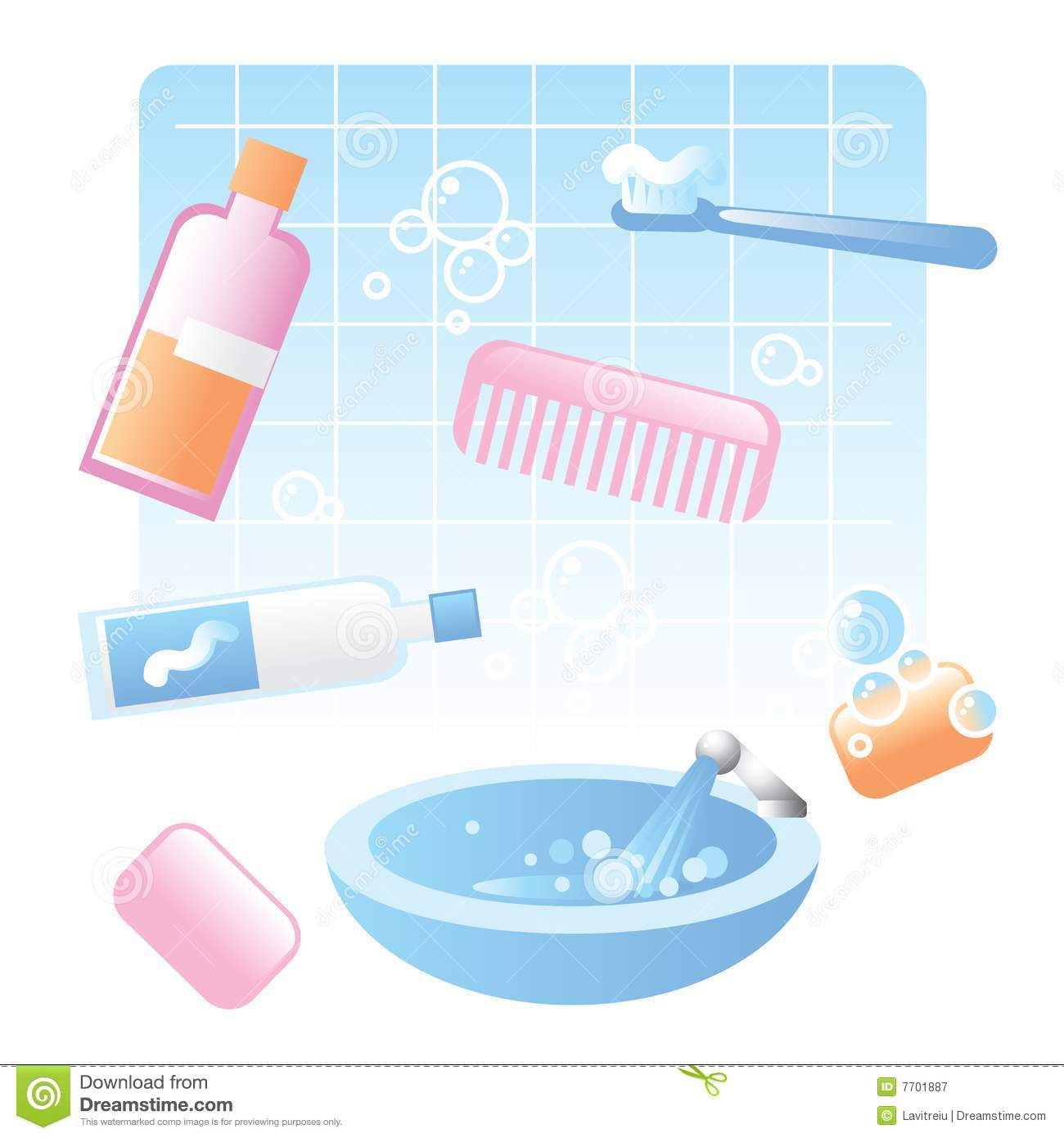 Bathtub clipart bathroom item. Items creative decoration cute