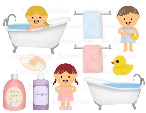 Items similar to bath. Bathtub clipart bathroom item