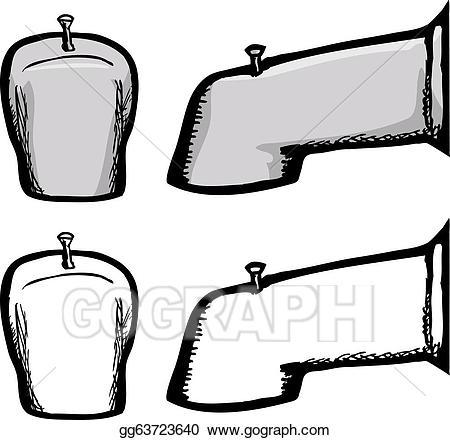 Eps vector stock illustration. Faucet clipart bathtub faucet