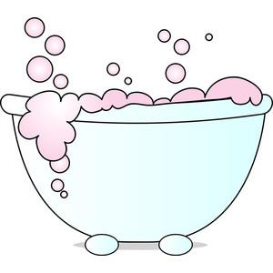 Tub clipart bubble bath.  clipartlook