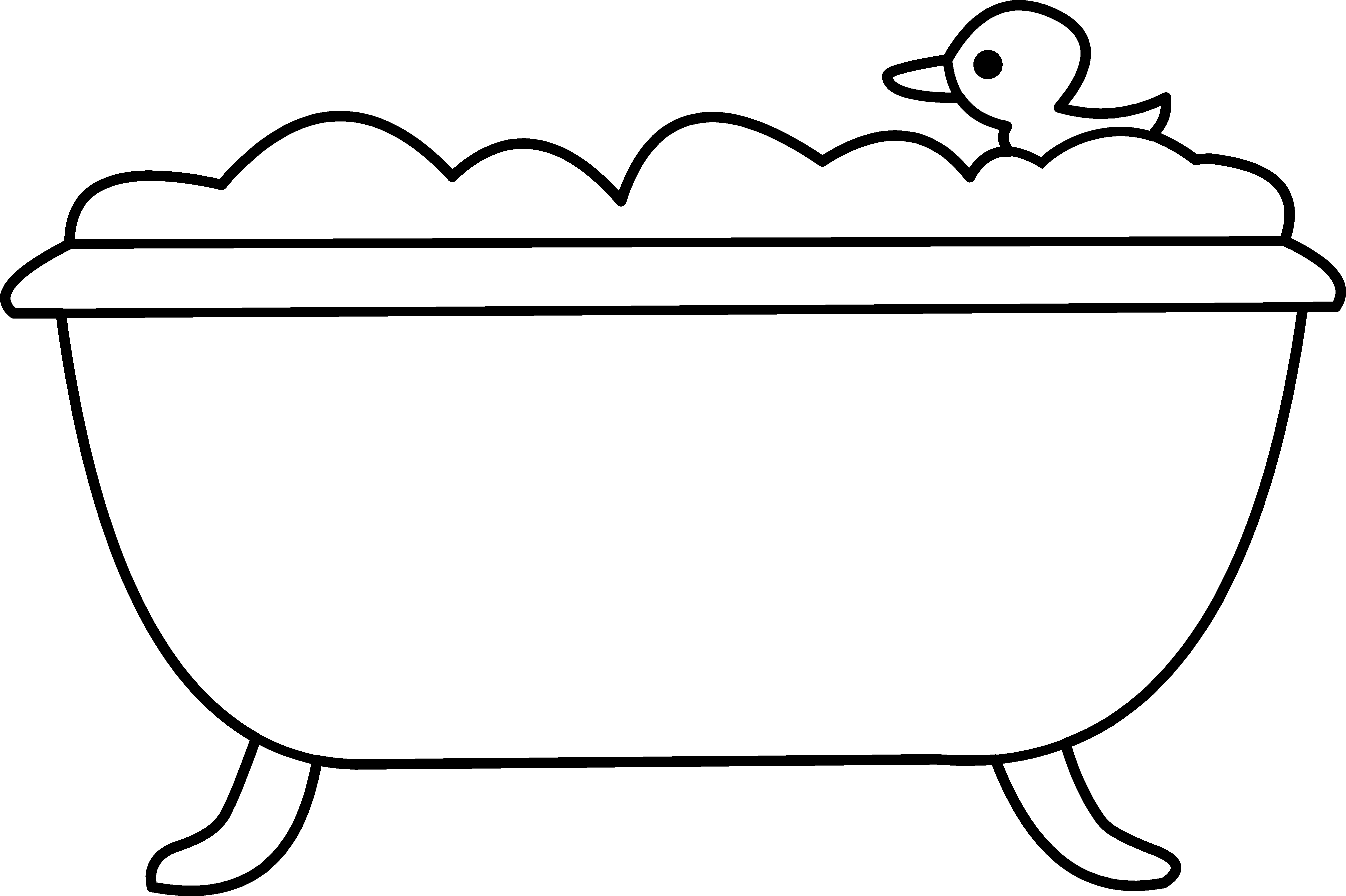 Drinks clipart tub. Bath and rubber ducky