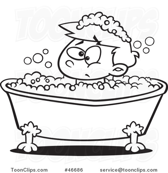 Bath clipart outline. Bubble drawing at getdrawings