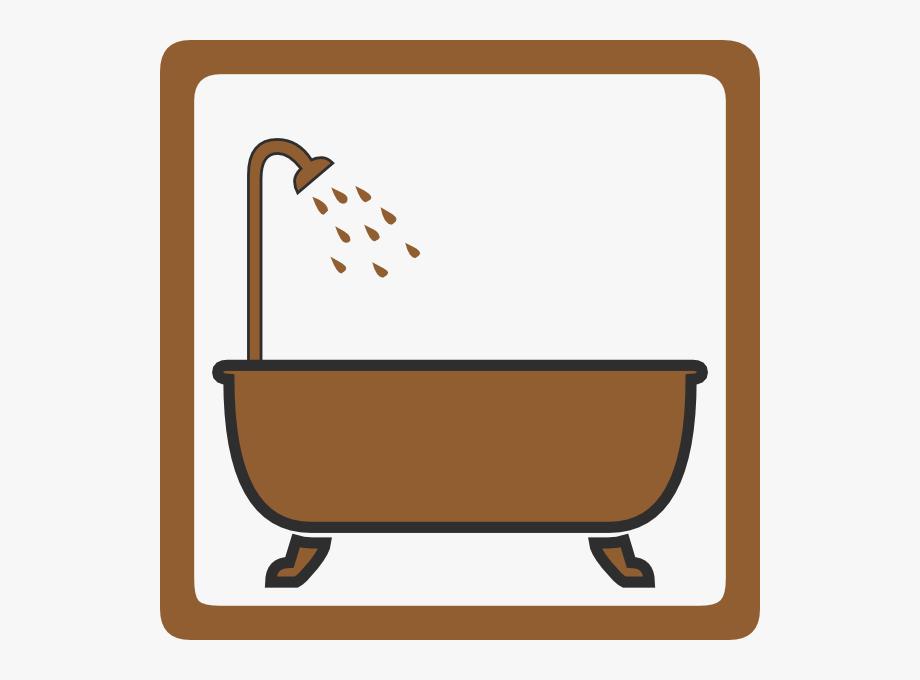 Brown clip art shower. Bathtub clipart cold bath