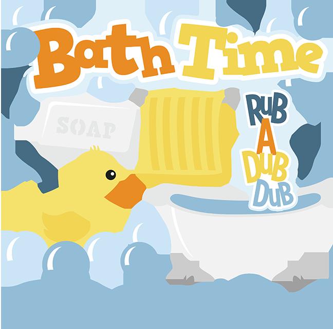 Tub clipart bubble bath. Time svg cut files