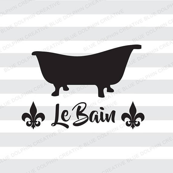 Tub clipart vintage. Le bain french bathroom