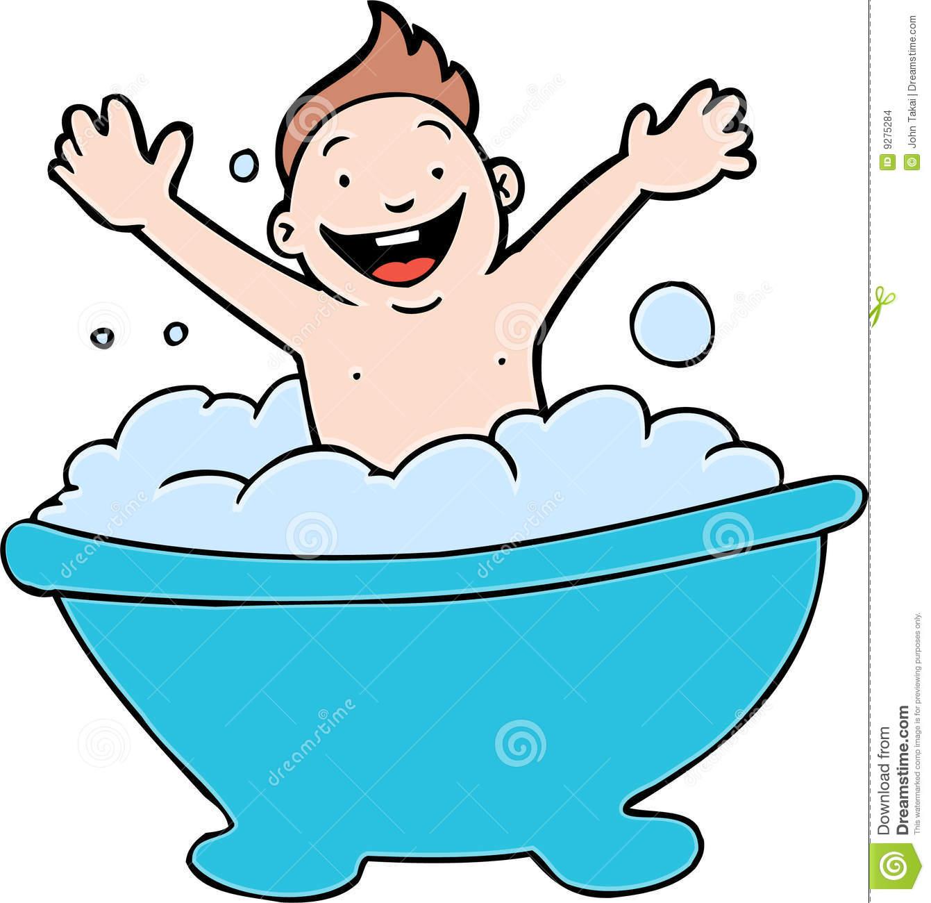 . Bath clipart child