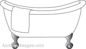 . Bathtub clipart tina