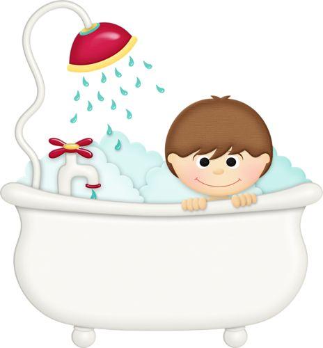 Bath clipart child. Bathtub kid pencil and