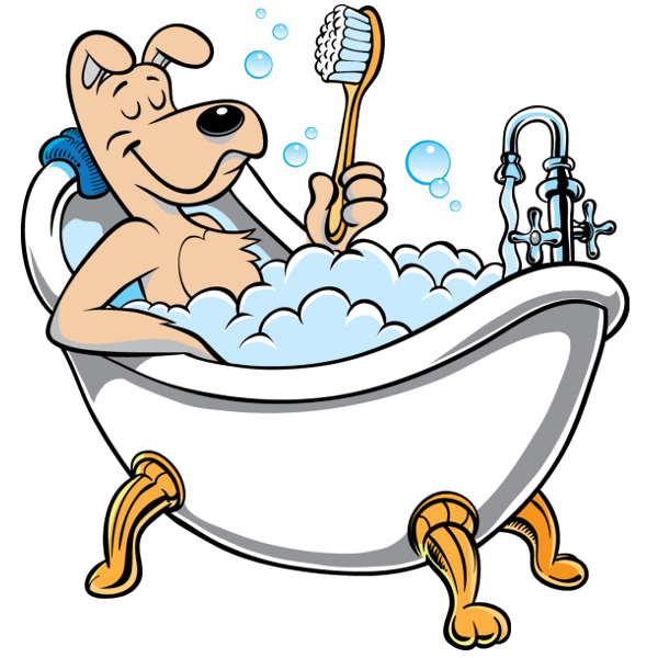 Funny animal images of. Clipart cat bath