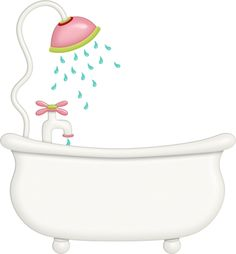 Bathtub clipart warm bath. Young woman taking vector