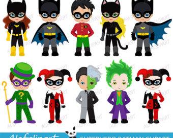 Batman clipart batman character. Robin etsy superhero digital