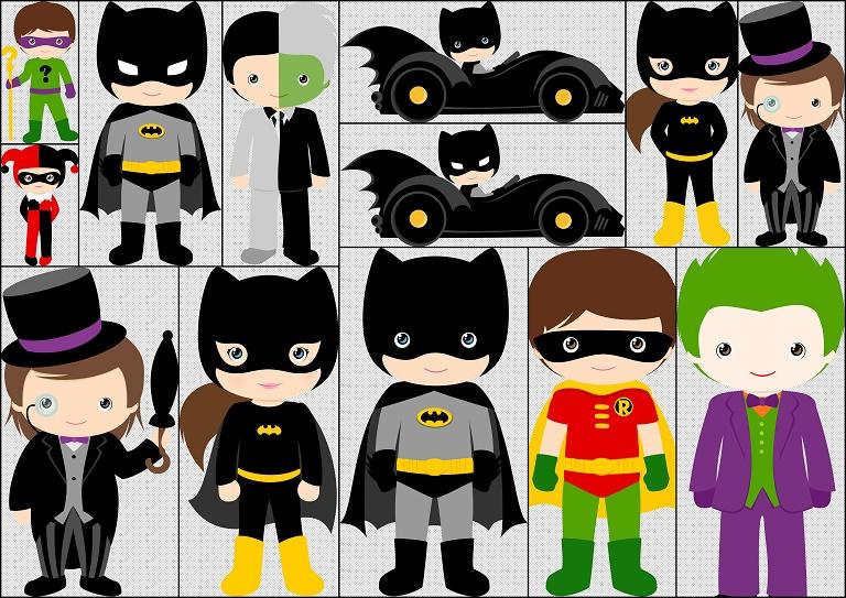 Characters of kids version. Batman clipart batman character