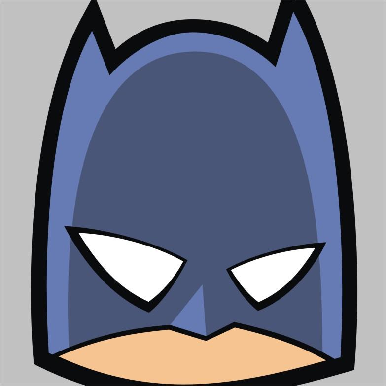 Square by headsupstudios on. Batman clipart batman face