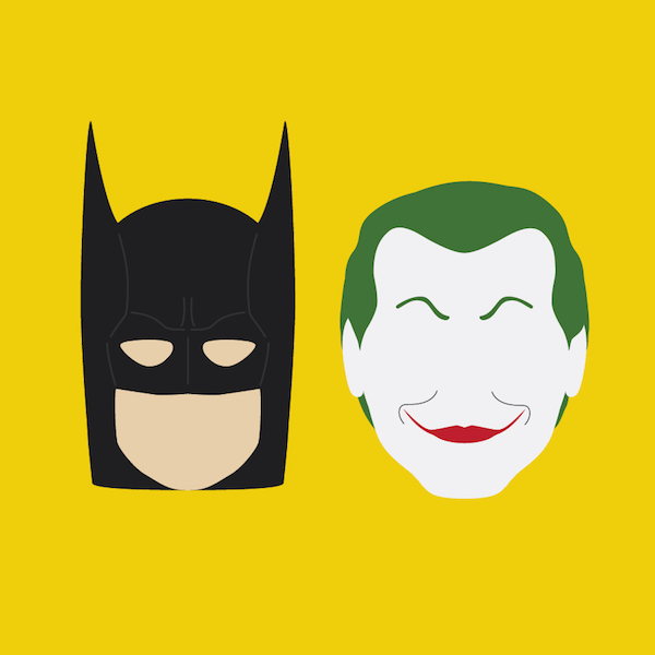 Batman clipart batman head. Minimalist illustrations show the