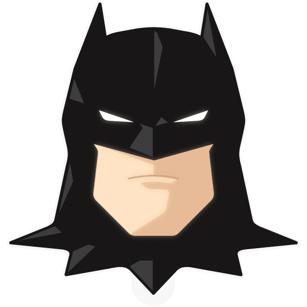 Batman clipart batman head. Sticker decal adhesive clip