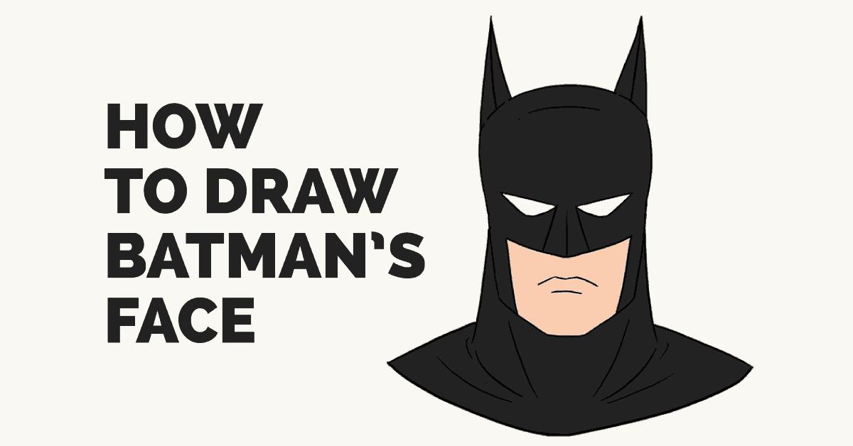How to draw s. Batman clipart batman head