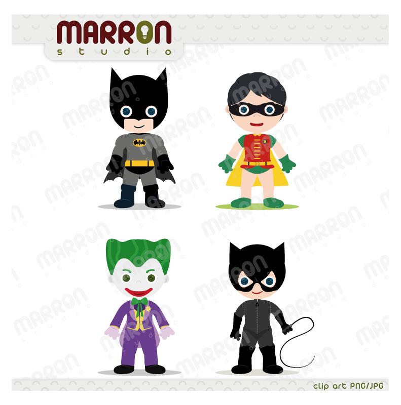Batman clipart batman joker. Marron studio super heroe
