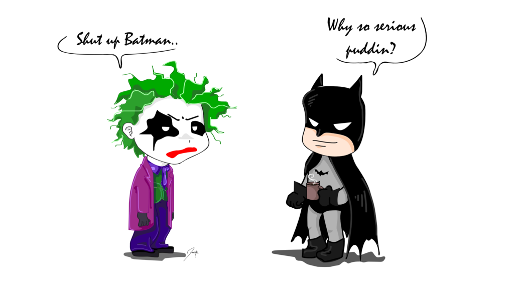 Batman clipart batman joker. Mug by marimivo on