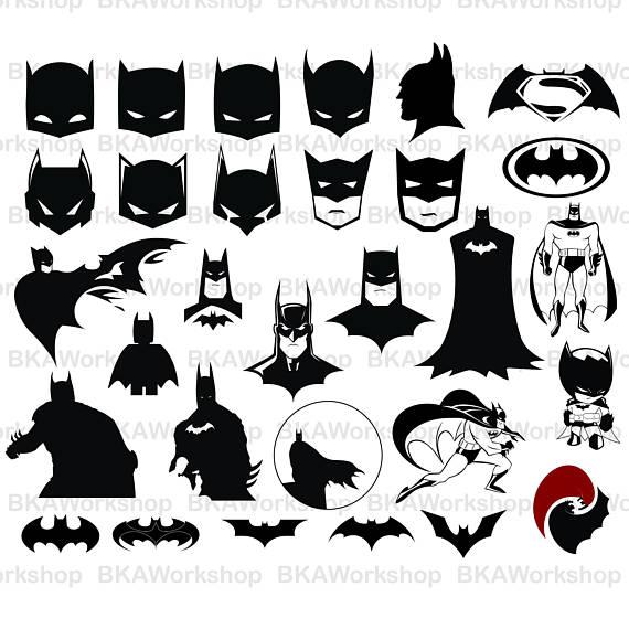 Batman clipart batman silhouette. Svg vector digital for