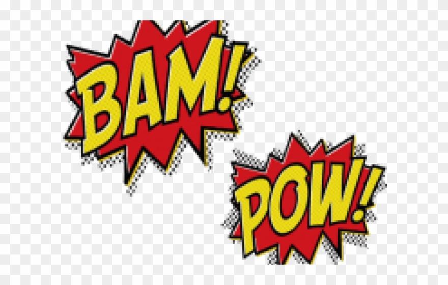 Batman clipart batman word. Bam blank superhero cutouts
