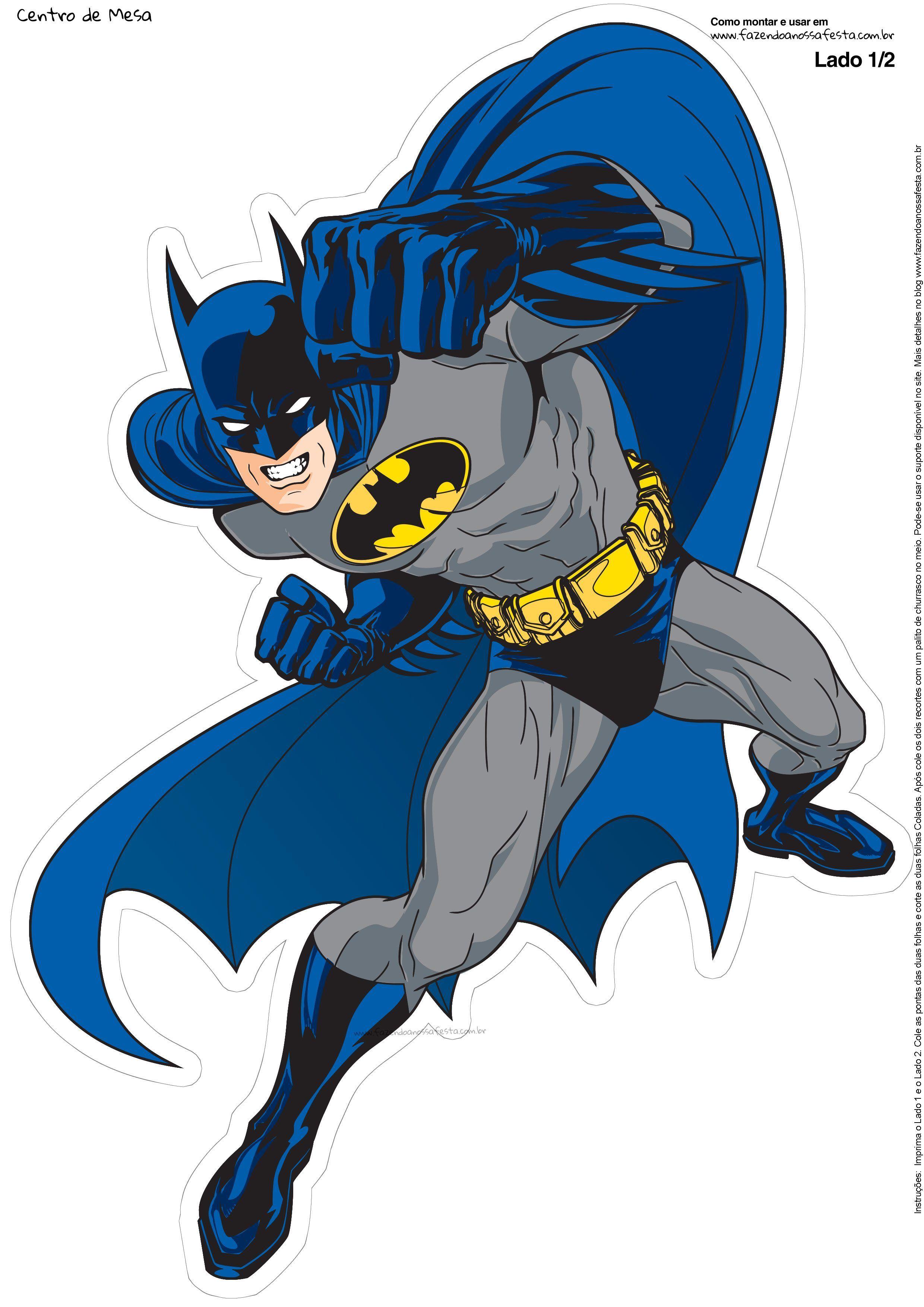 Batman clipart blue batman. Centro de mesa mesas