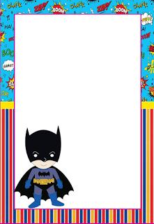Batman clipart border. Marcos invitaciones tarjetas o