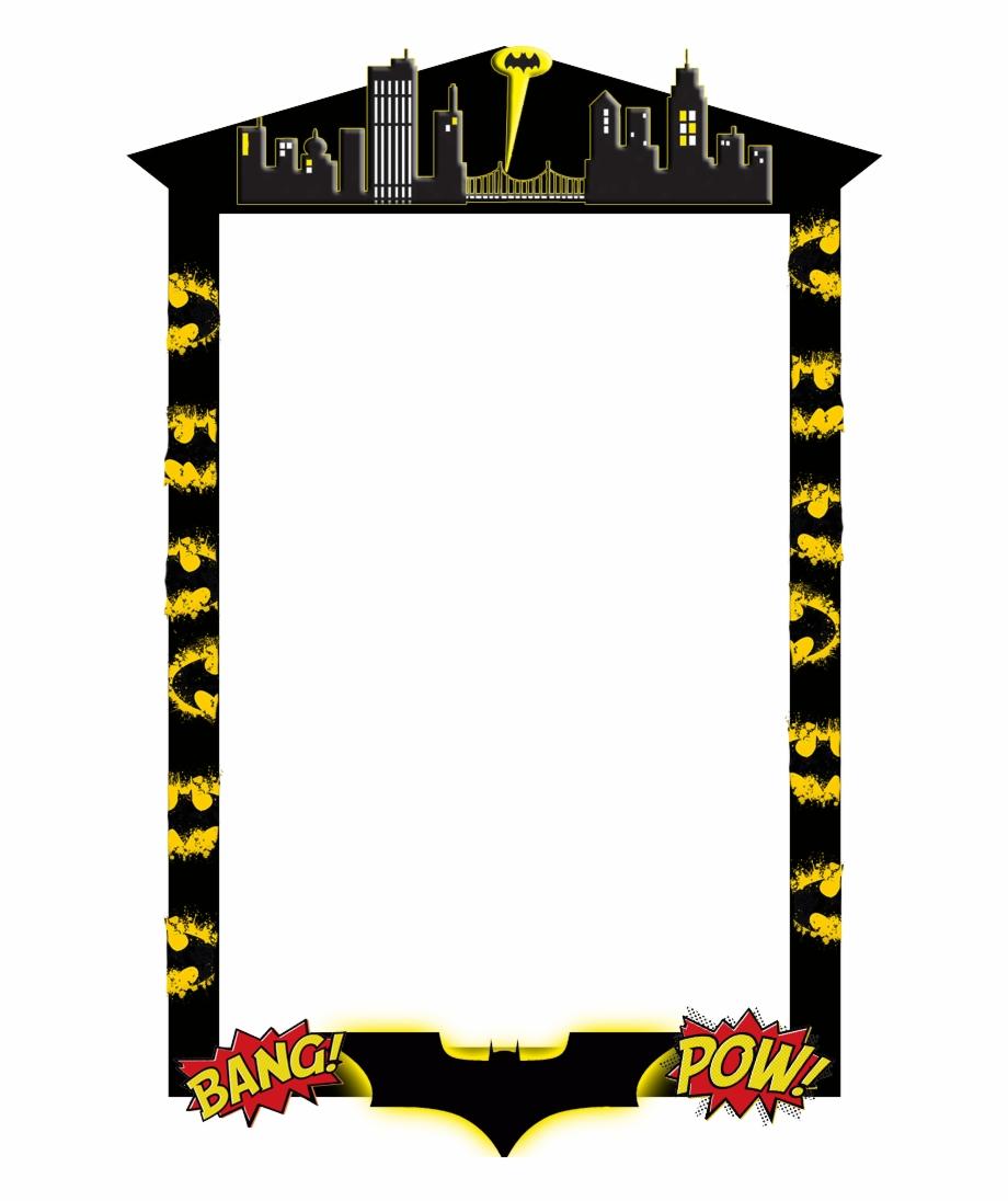 Frame png photo free. Batman clipart border