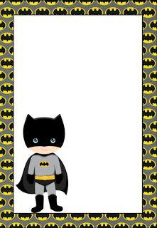 Pencil and in color. Batman clipart border