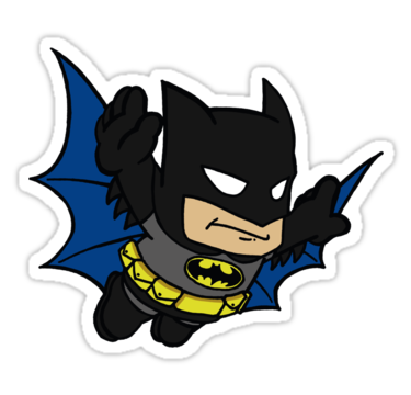 Batman clipart bubble. Super bros stickers by