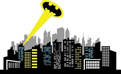 Amazon com chic walls. Batman clipart cityscape