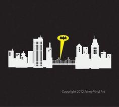 Batman clipart cityscape. Gotham city amazoncom chic