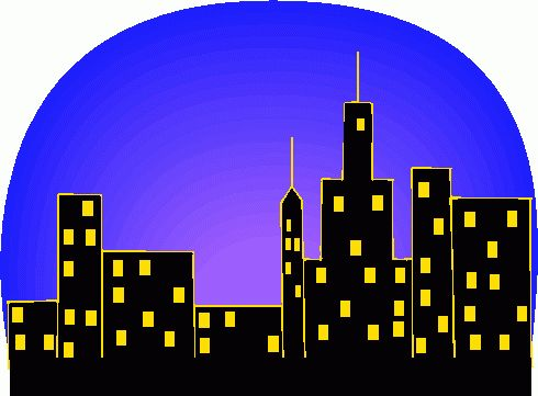 Innovation city clip art. Batman clipart cityscape