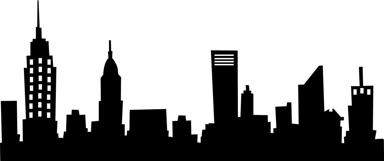 New york skyline wall. Batman clipart cityscape