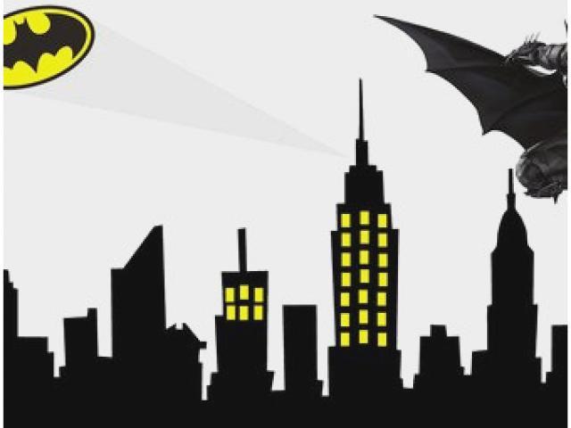 Mask x free clip. Batman clipart cityscape