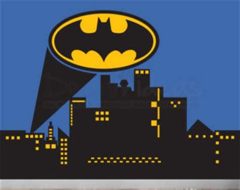 Gotham city wall decal. Batman clipart cityscape
