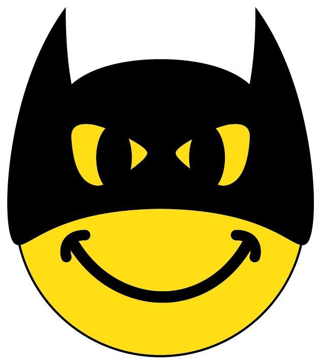 Batman clipart emoji. Character smileys smiley face