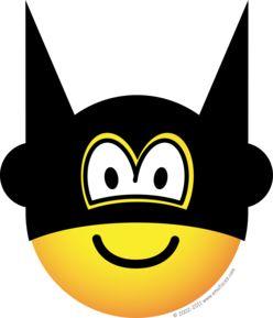 Batman clipart emoji.  best superhero smileys