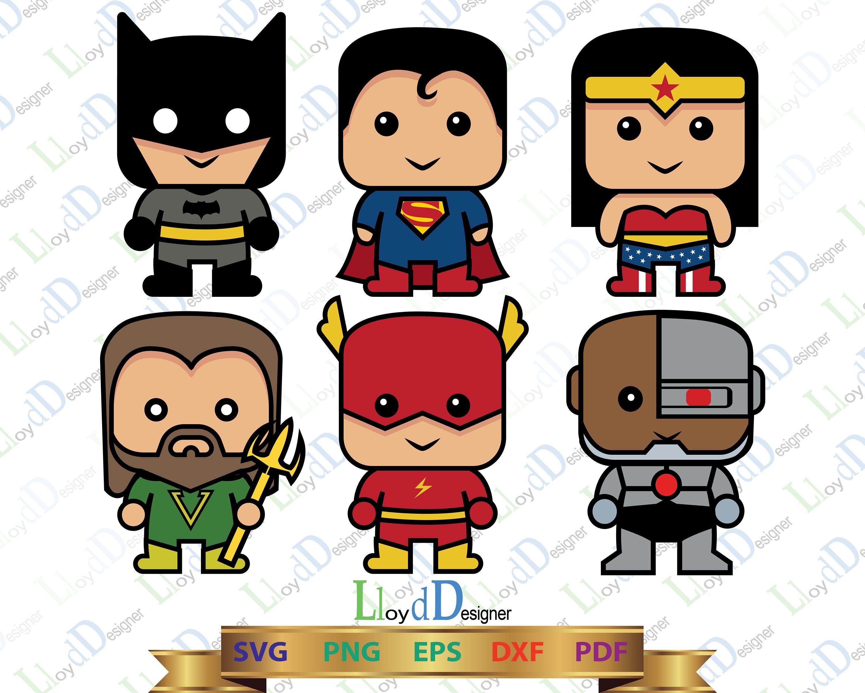 Svg cute . Batman clipart justice league