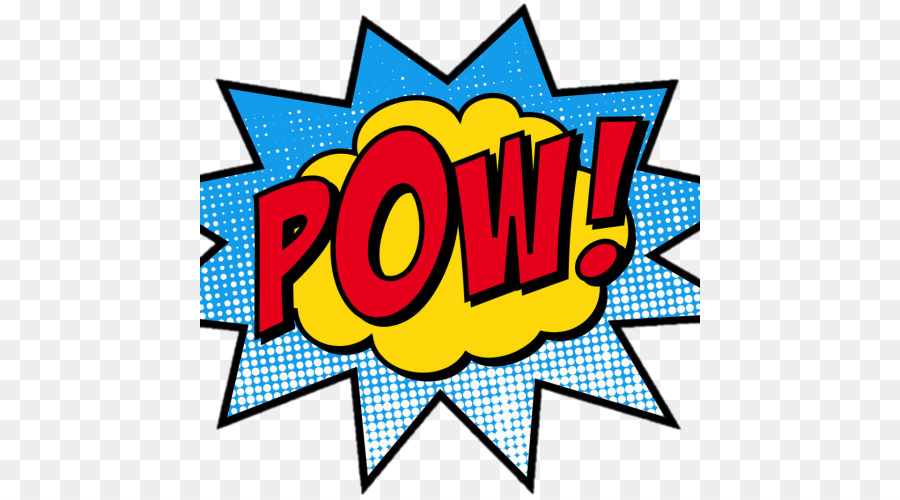 Comic book superhero pop. Burst clipart pow