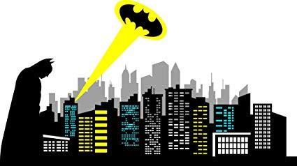 Skyline clipart gotham city. Chicwalls removable batman silhouette