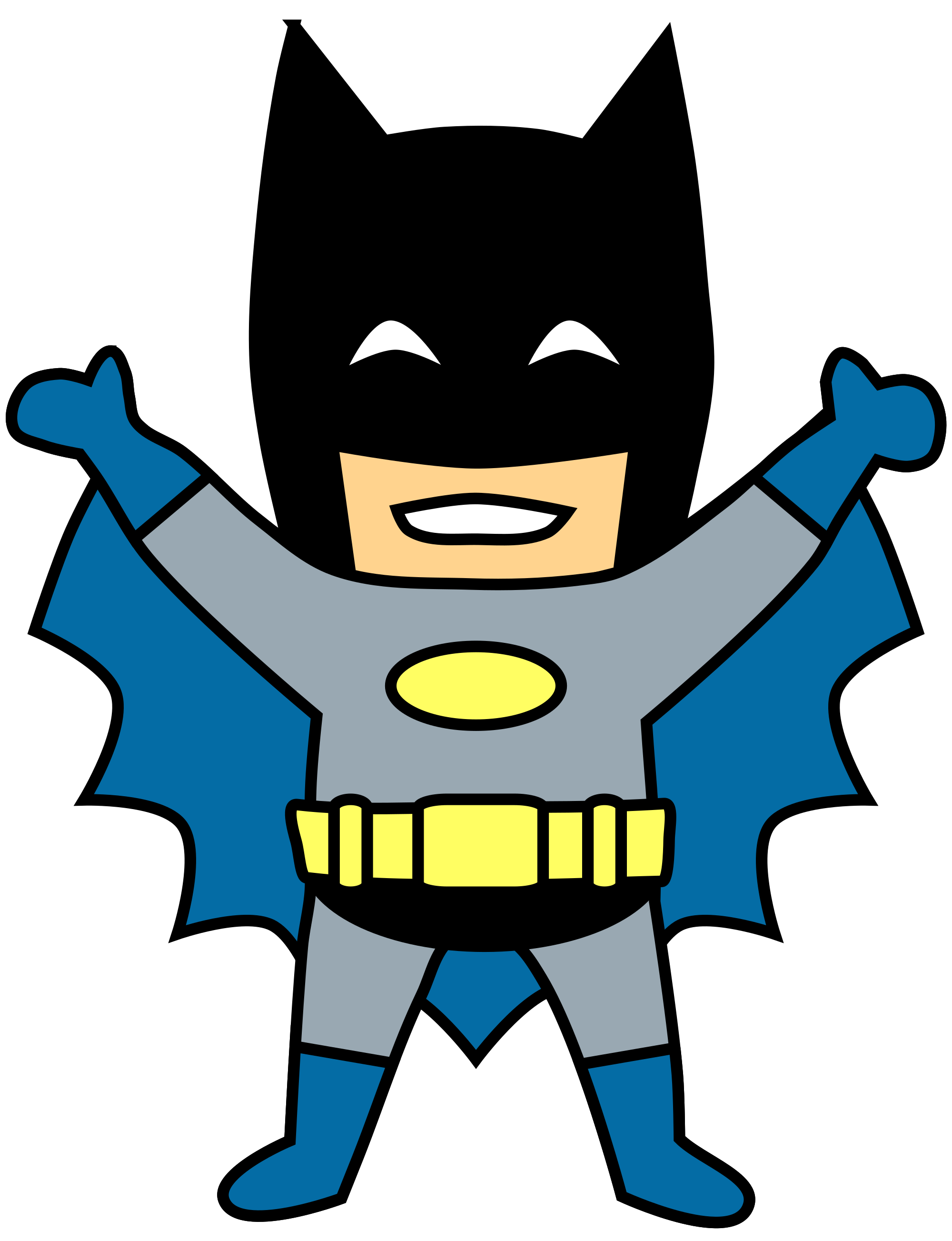 Character clipart transparent. Happy mini batman cartoon