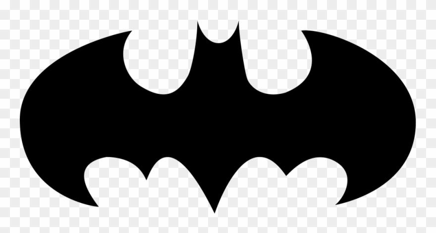 Bat with open wings. Bats clipart batman