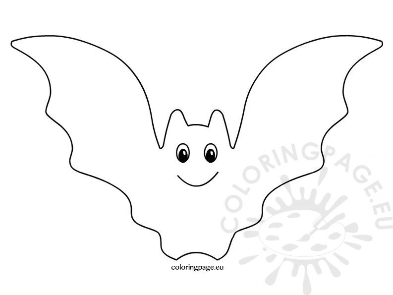 Halloween bat coloring page. Bats clipart black and white