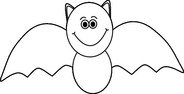 Bats clipart black and white. Bat clip art image