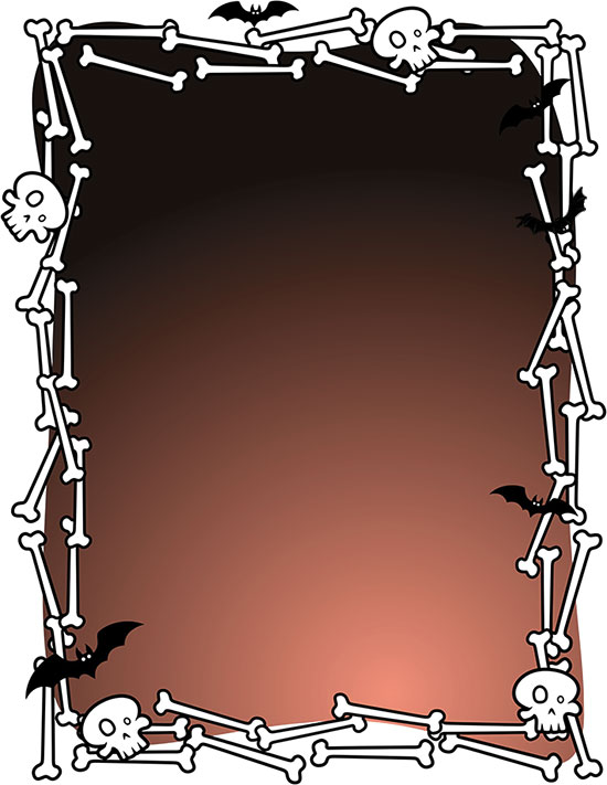 Free halloween borders happy. Bone clipart border