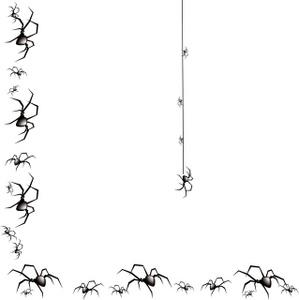 Halloween spider web borders. Zombie clipart border