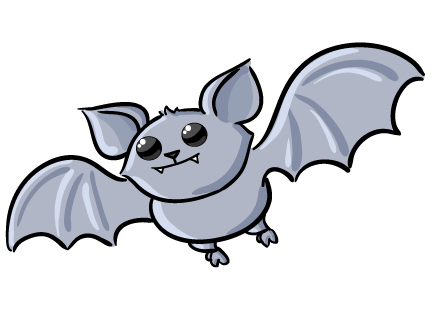 Funny . Bat clipart
