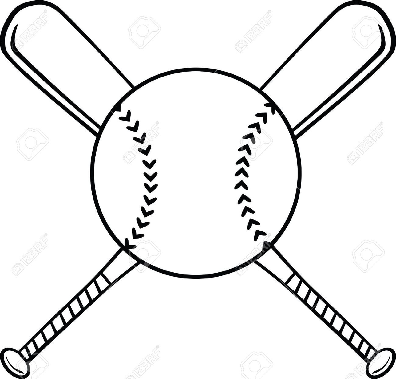 Softball clipart draw. Ball and bat clipartfox