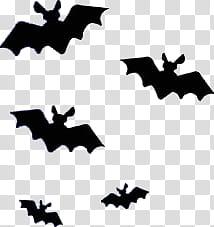 Halloween mega black illustration. Bats clipart five